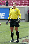6 June 2004: Kristen Luckenbill before the game. The United States tied Japan 1-1 at Papa John's Cardinal Stadium in Louisville, KY in an international friendly soccer game..