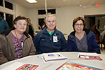 Prospect, CT- 18 January 2017-011817CM18-  Social Moments---From left to right, Elaine Denze her husband Art of Waterbury and Diane Millas of Naugatuck  are photographed during Relay For Life of Greater Waterbury 2017 kick-off celebration at the Prospect Volunteer Fire Department on Wednesday.    Christopher Massa Republican-American