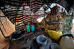 Halima Abdikadir Hassan, 45, sitting in her cooking tent, arrived in the Dadaab refugee camp in northeastern Kenya in March, 2011. Tens of thousands of refugees have fled drought-stricken Somalia in recent weeks, swelling what was already the world's largest refugee settlement.
