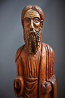 13th century wood statue of Saint  Elias - Amalfi Cathedral museum, Italy