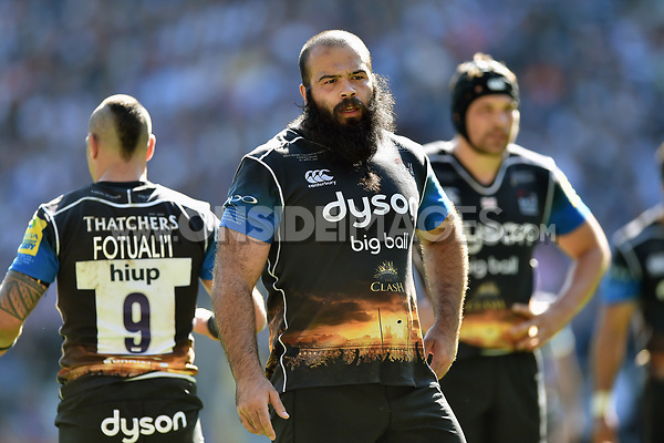 Kane Palma-Newport of Bath Rugby looks on during a break in play. The Clash, Aviva Premiership match, between Bath Rugby and Leicester Tigers on April 8, 2017 at Twickenham Stadium in London, England. Photo by: Patrick Khachfe / Onside Images