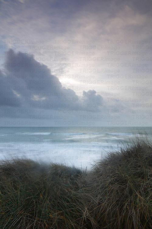 Stormy rough seascape