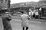 Midgley Pace Egg Play Hebden Bridge, Yorkshire. England. Group photograph the Mumming play is performed by school children of Calder Valley High School.<br />