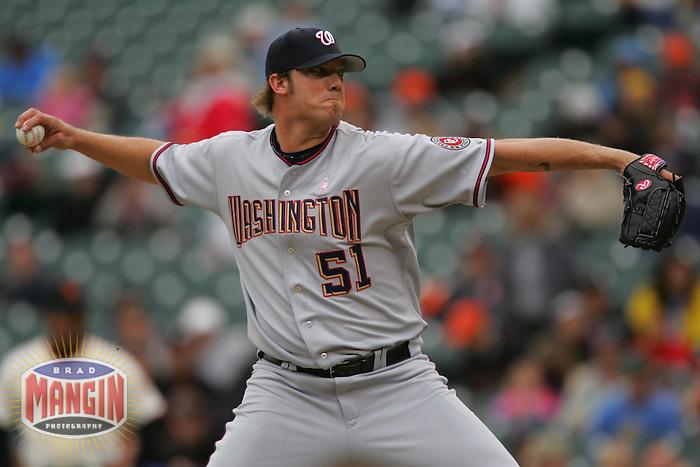 Jon Rauch. Baseball: Washington Nationals vs San Francisco Giants. San Francisco, CA 5/8/2005 MANDATORY CREDIT: Brad Mangin