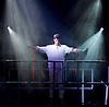 Godspell <br /> at Hackney Empire, London, Great Britain <br /> by John-Michael Tableau <br /> Music &amp; lyrics by Stephen Schwartz<br /> produced by Russell Scott &amp; Mark Pettitt <br /> press photocall <br /> 4th April 2015 <br /> <br /> Tom Senior as Jesus <br /> <br /> <br /> Photograph by Elliott Franks <br /> Image licensed to Elliott Franks Photography Services