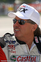 INDIANAPOLIS, IN - SEPTEMBER 4: John Force at the NHRA Mac Tools US Nationals on September 4, 2006, at O'Reilly Raceway Park near Indianapolis, Indiana.