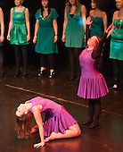 """Katherine Morland and choreographer, Hannah Greenslade, dancing to """"The Flame of Hope"""" sung by the ACM Gospel Choir.  Special Olympics Surrey put on a show,   """"Beyond the Stars"""", at the Rose Theatre, Kingston upon Thames to raise money for the  SOGB team.  The Special Olympics are for athletes with learning disabilities."""