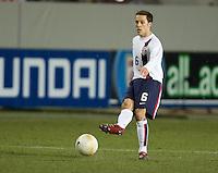 Steve Cherundolo kicks the ball at Fritz-Walter Stadium, Kaiserslautern, Germany, Wednesday, March 1, 2006. USA 1-0.