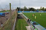 Concord Rangers 0 Hayes and Yeading United 3, 17/10/2015. Thames Road, Football Conference South. Concord Rangers in play host to Hayes and Yeading United in a Conference South League match. The match was won by the away side by 3 goals to 0. Thames Road Stadium is sandwiched between Thorney Bay caravan park and a gas works on Canvey Island. Photo by Simon Gill