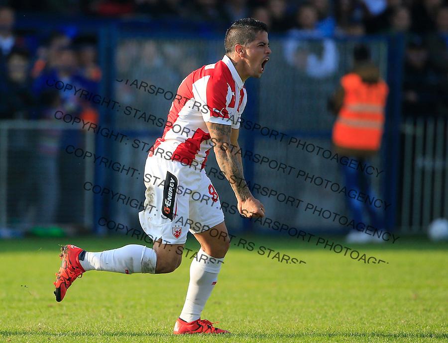 Fudbal Kup Srbije season 2015-2016<br /> Backa v Crvena Zvezda<br /> Luis Ibanez celebrates the goal<br /> Backa Palanka, 28.10.2015.<br /> foto: Srdjan Stevanovic/Starsportphoto&copy;