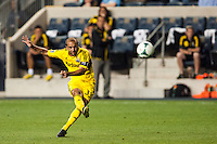 Federico Higuain (33) of the Columbus Crew. The Philadelphia Union defeated the Columbus Crew 3-0 during a Major League Soccer (MLS) match at PPL Park in Chester, PA, on June 5, 2013.