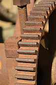Stock photo of antique rusted gears