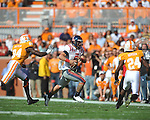 Ole Miss quarterback Jeremiah Masoli (8) runs upfield in a college football game at Neyland Stadium in Knoxville, Tenn. on Saturday, November 13, 2010. Tennessee won 52-14.