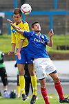 Cowdenbeath v St Johnstone....21.07.12  pre-season friendly.Keiron Stewart and Ruben Garcia Rey.Picture by Graeme Hart..Copyright Perthshire Picture Agency.Tel: 01738 623350  Mobile: 07990 594431