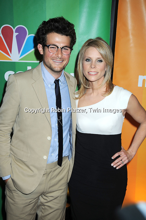 "Jacob Soboroff and Cheryl Hines of ""School Pride"" posing for photographers at the NBC Universal's Upfront presentation of the 2010-2011 Season on May 17, 2010 at The New York Hilton Hotel in New York City."