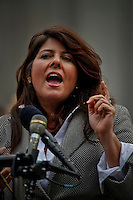 political consultant Naomi Wolf attends a news conference to announce Lawsuit Against the Indefinite Detention Provisions of NDAA in New York, United States. 29/03/2012. Photo by Eduardo Munoz Alvarez  / VIEWpress.