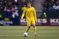 Robbie Rogers (14) of the Columbus Crew. Chivas USA and Columbus Crew played to a 0-0 tie at Home Depot Center stadium in Carson, California on  April  9, 2011....