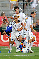 Gregg Berhalter comes away with the ball..Kansas City Wizards tied 1-1 with L.A Galaxy at Community America BallPark, Kansas City, Kansas.