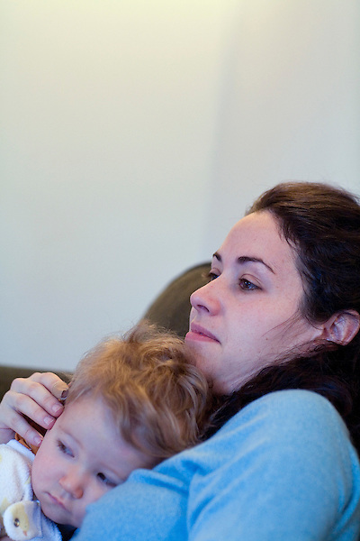 Rosaleen wakes her 1.5 year old son, Sean named after her brother, after she gets home from the WTC site.. A day in the life of Rosaleen Tallon, sister of firefighter Sean Tallon killed in the 9/11 World Trade Center attacks. In response to the proposed WTC memorial being built underground at the site, Ms. Tallon has been sleeping for 16 days in front of the fire house across from the WTC site. She and several other WTC families are protesting the memorial design and asking for the victim's names to be placed above ground for the sake of honoring the lives lost and safety concerns with any possible future evacuation of the site.