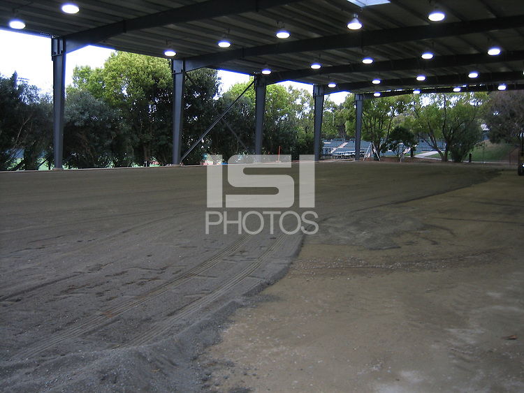 25 March 2007: Photographs of the batting cage facility construction at Sunken Diamond in Stanford, CA.