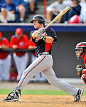 4 March 2011: Atlanta Braves infielder Shawn Bowman in action during a Spring Training game against the Washington Nationals at Space Coast Stadium in Viera, Florida. The Braves defeated the Nationals 6-4 in Grapefruit League action. Mandatory Credit: Ed Wolfstein Photo