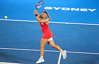 Angelique Kerber of Germany returns to Tsvetana Pironkova of Bulgaria during their final match at the Sydney International tennis tournament, Jan. 10, 2014.  Daniel Munoz/Viewpress IMAGE RESTRICTED TO EDITORIAL USE ONLY