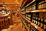 The wine cellar at Eataly, the high end Italian food market in Turin, Italy which is where the company started and where it occupies a building that used to be a vermouth factory