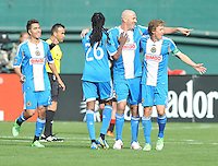 Conor Casey (6) of the philadelphia Union celebrates with teammates his score in the 11th minute of the game. The Philadelphia Union defeated D.C. United 3-2, at RFK Stadium, Sunday April 21, 2013.