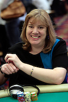 28 February 2009: Pro Player Kathy Liebert during the 7th Annual WPT World Poker Tour Invitational at the Commerce Casino in Los Angeles, CA. Players compete for poker glory and a  piece of the $200,000 prize pool. Celebrity and Pro card players in action.
