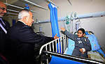 Palestinian Prime Minister Salam Fayyad attends the opining of department of Obstetrics in Thabet hospital in the West Bank city of Tulkarm on 19 December 2012. Photo by Mustafa Abu Dayeh