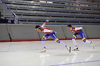 SPEEDSKATING: CALGARY: 12-11-2015, Olympic Oval, training, schaatsers Columbia, ©foto Martin de Jong