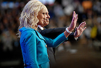 ST. PAUL, MN - September 4, 2008: John and Cindy McCain onstage following John McCain's nomination acceptance speech at the Republican National Convention.
