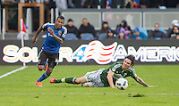 San Jose, California - March 13, 2016: The San Jose Earthquakes defeated Portland Timbers 2-1 at Avaya Stadium