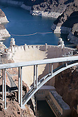 Aerial photograph stock photo of Hoover Dam