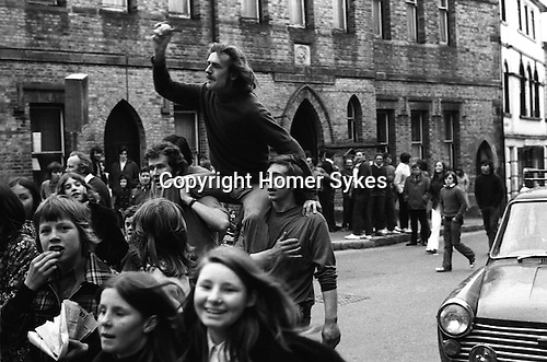 Hurling the Silver Ball. St Columb, Cornwall, England 1974. <br /> <br /> Played annually on Shrove Tuesday. At St Columb hurling is played by two teams comprising of of Townsmen and Countrymen.<br /> <br /> David Juszczak wins a Town ball after 1 hr 5 minutes play.