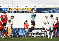 David Meves #24 of the University of Akron makes a save during the 2010 College Cup final against the University of Louisville at Harder Stadium, on December 12 2010, in Santa Barbara, California. Akron champions, 1-0.