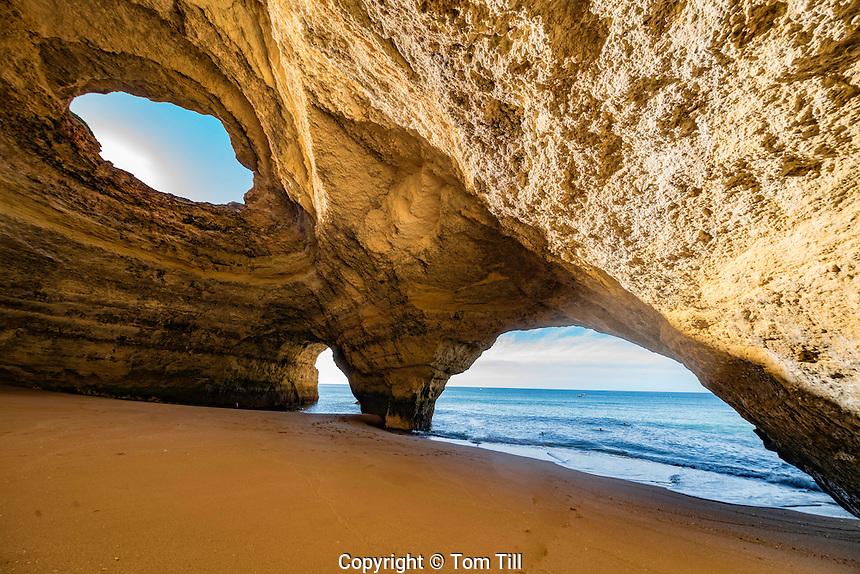 Benagil sea arches and cave, Benagil Beach, Portugal, Algrave Coast, Atlantic Ocean