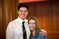 White Coat Ceremony, class of 2015. Kenneth Mensch, left, and Nicole Meredyth.