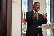 December 18, 2011. Durham, NC.. Long time political advocate Ed Davis led a panel, at the Hayti Heritage Center, on the historic Blue vs. Durham civil rights case that led to the integration of the Durham school system at t.