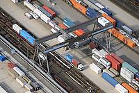 DUSS-Terminal Hamburg-Billwerder: EUROPA, DEUTSCHLAND, HAMBURG, (EUROPE, GERMANY), 22.09.2016: Deutsche Umschlaggesellschaft Schiene–Straße (DUSS) mbH, Terminal Hamburg-Billwerder ist eine wichtige Schnittstelle für den Umschlag von Ladeeinheiten zwischen Strasse und Schiene sowie im nationalen und internationalen Umsteigeverkehr zwischen Gueterzuegen.