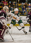 18 December 2016: University of Vermont Catamount Forward Derek Lodermeier, a Freshman from Brooklyn Center, MN, in second period action against the Union College Dutchmen at Gutterson Fieldhouse in Burlington, Vermont. The Catamounts fell to their former ECAC hockey rivals 2-1, as the Dutchmen sweep the two-game weekend series. Mandatory Credit: Ed Wolfstein Photo *** RAW (NEF) Image File Available ***