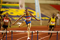 Kaliese Spencer finished 2nd. in the 400m hurdles with a time of 55.89sec. at the Jamaica International Invitational Meet held at the National Stadium on Saturday, May 2nd. 2009. Photo by Errol Anderson,The Sporting Image.net