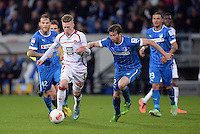 Fussball 1. Bundesliga 2012/2013: Relegation  Bundesliga / 2. Liga  TSG 1899 Hoffenheim  - 1. FC Kaiserslautern          23.05.2013 Mitchell Weiser (li, 1. FC Kaiserslautern) gegen David Abraham (re, TSG 1899 Hoffenheim)