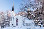 The Quechee Community Church in Quechee village, Hartford, VT, USA