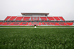 27 April 2007: A view across the middle of the field of the main West Stand.  BMO Field in Toronto, Ontario, Canada on the day before it was scheduled open with the inaugural home match of Major League Soccer expansion team Toronto FC.
