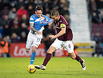 Hearts v St Johnstone&hellip;05.11.16  Tynecastle   SPFL<br />Perry Kitchen grabs hold off Danny Swanson<br />Picture by Graeme Hart.<br />Copyright Perthshire Picture Agency<br />Tel: 01738 623350  Mobile: 07990 594431
