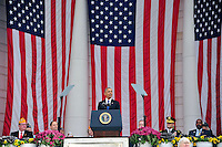 United States President Barack Obama makes remarks in the Memorial Amphitheater at Arlington National Cemetery in Arlington, Virginia after laying a wreath at the Tomb of the Unknown Soldier on Veteran's Day, Friday, November 11, 2016.<br /> Credit: Ron Sachs / Pool via CNP /MediaPunch