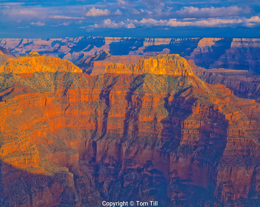 View from Point Sublime, Grand Canyon National park, Arizona  North Rim   Souht Rim beyond