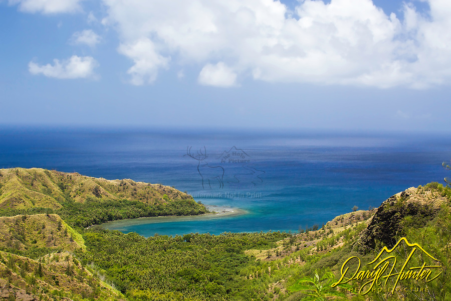 One of the most well-known scenic points of Guam is the Cetti Bay Overlook on the southwest side of the island. The surrounding foothills and Cetti Bay are part of Guam's Territorial Seashore Park.
