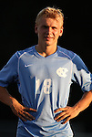 31 August 2012: UNC's Verneri Valimaa. The University of North Carolina Tar Heels defeated the West Virginia University Mountaineers 1-0 at Fetzer Field in Chapel Hill, North Carolina in a 2012 NCAA Division I Men's Soccer game.